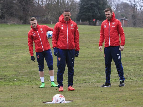 ARSENAL PLAYERS LAUNCH LONDONS FIRST FOOTGOLF COURSE